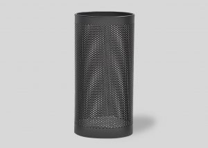 perforated black steel paperbasket