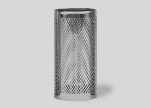 round hole polished stainless steel paperbasket