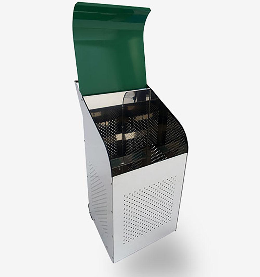 ecobin insdustrial stainless steel dustbin