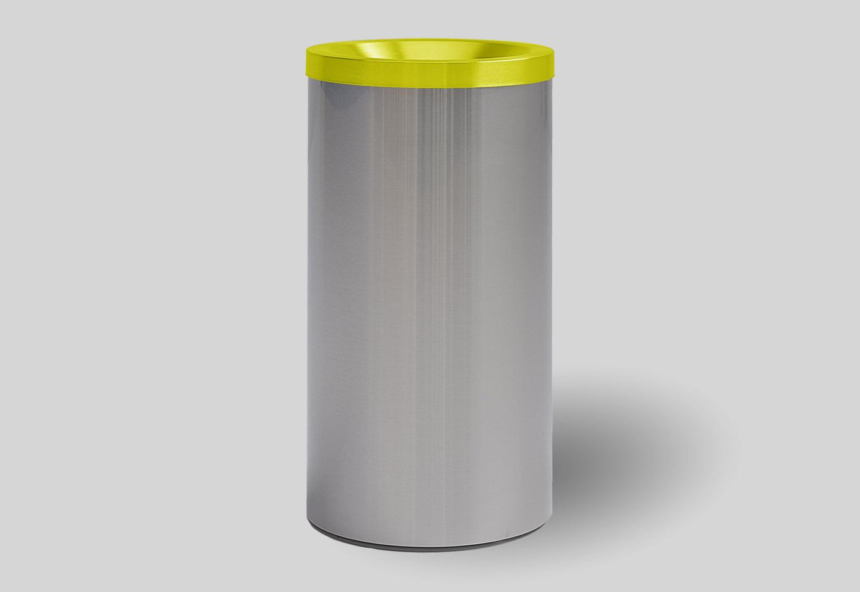 Yellow dustbin grizu