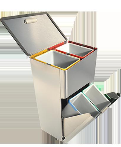 Four dustbin