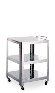 Quadra stainless steel trolley